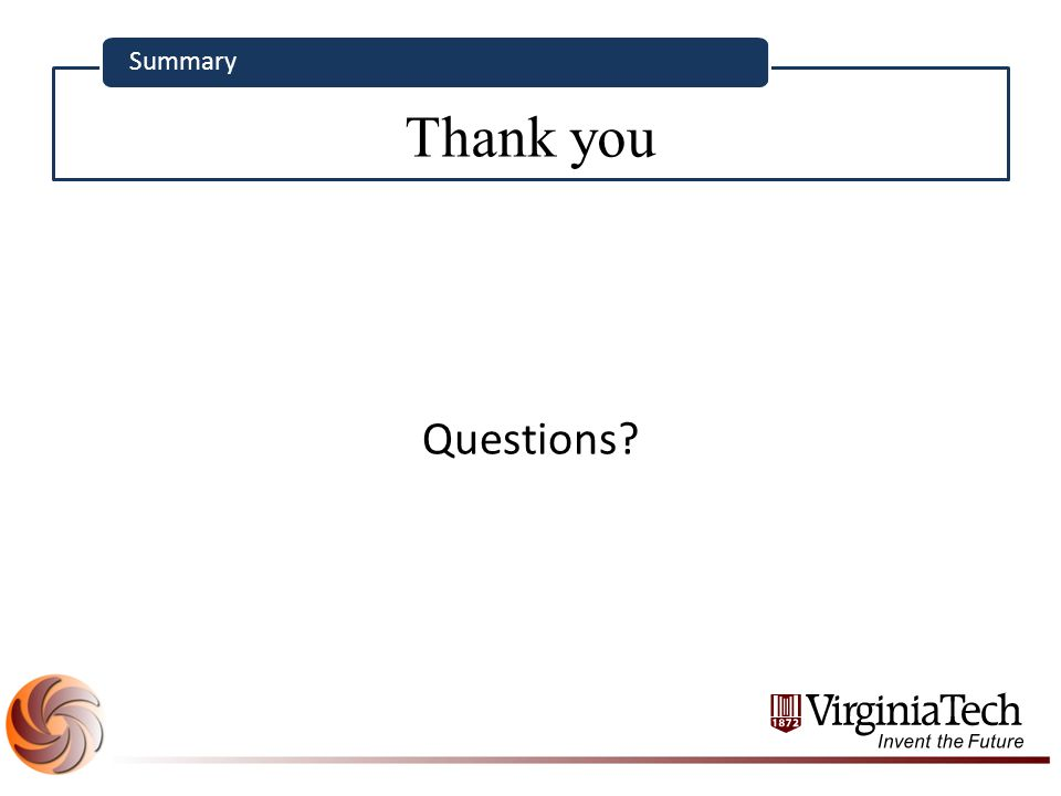 Thank you Summary Questions