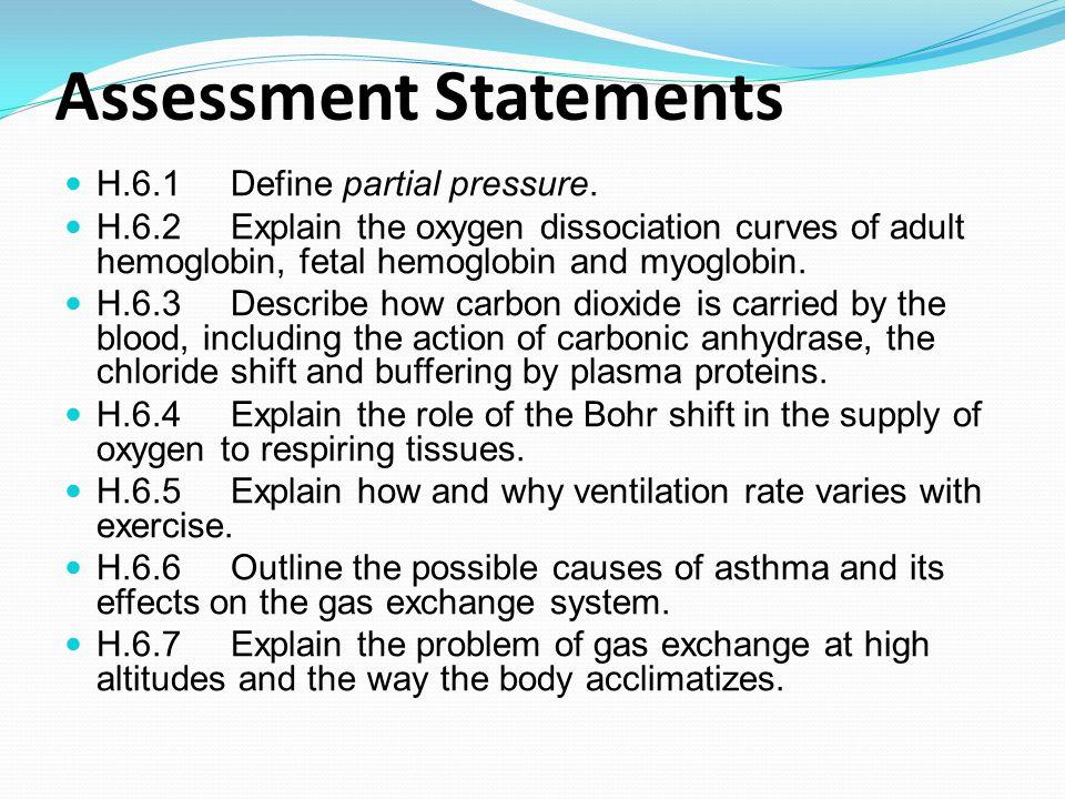Define the term partial pressure Atmospheric air is a mixture of gases; nitrogen, oxygen, carbon dioxide, water vapour & inert gases.
