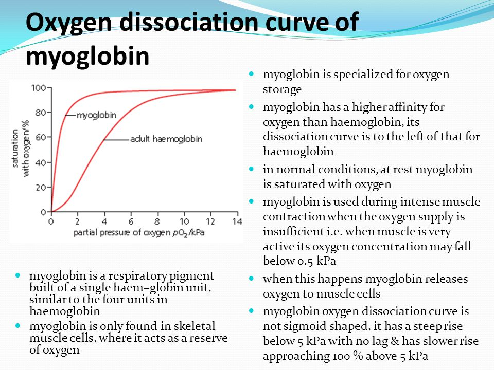 The oxygen dissociation curve is a graph that shows the percentage saturation of haemoglobin at various partial pressures of oxygen.