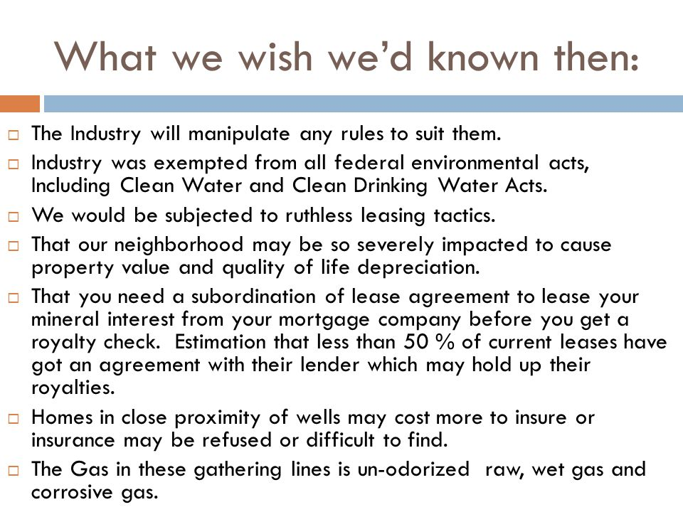 What we wish wed known then: The Industry will manipulate any rules to suit them.