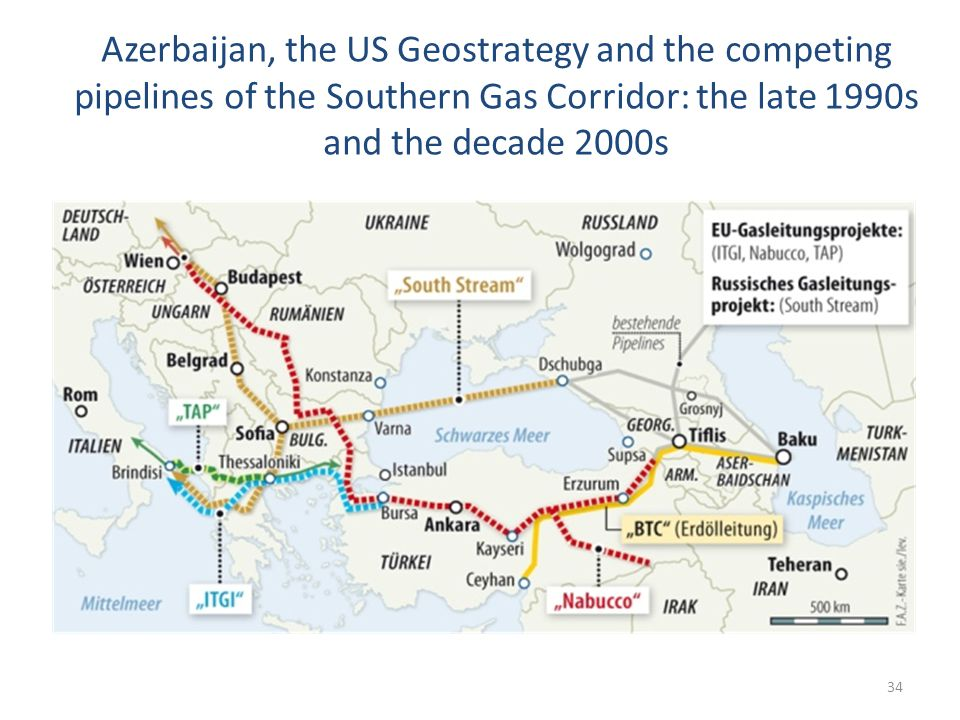 Azerbaijan, the US Geostrategy and the competing pipelines of the Southern Gas Corridor: the late 1990s and the decade 2000s 34