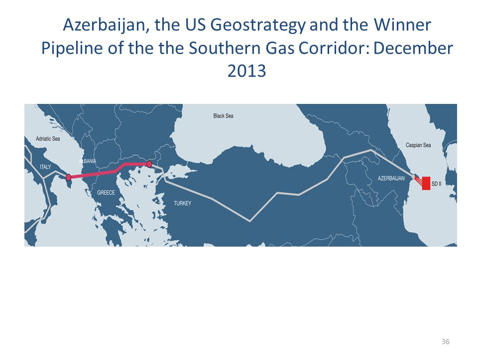 Azerbaijan, the US Geostrategy and the Winner Pipeline of the the Southern Gas Corridor: December 2013 36