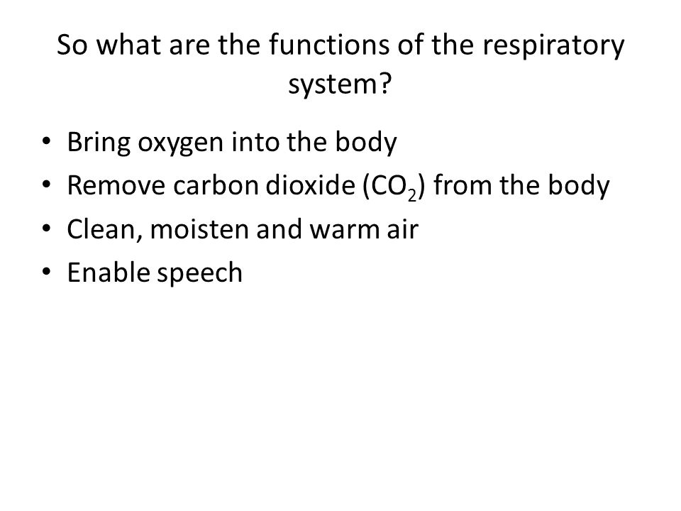 Gas exchange supplies oxygen for cellular respiration and removes CO 2 Gas exchange – uptake of O2 from environment and discharge of CO2 Mitochondria need O2 to produce more ATP, CO2 is the by-product C 6 H 12 O 6 + 6O 2 6CO 2 + 6H 2 O + 36 ATP DIFFUSION …………………………………………………………………………………………………………………