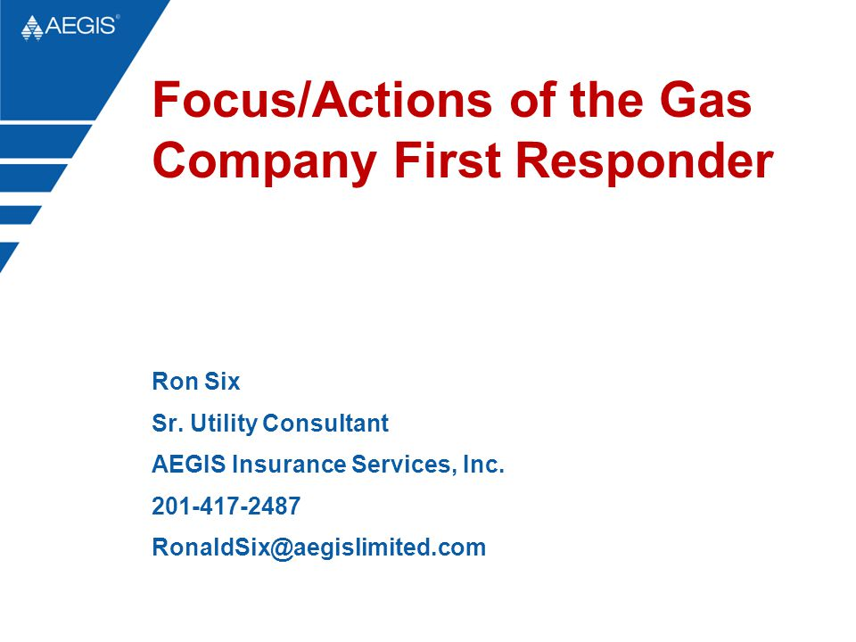 Focus/Actions of the Gas Company First Responder Ron Six Sr.