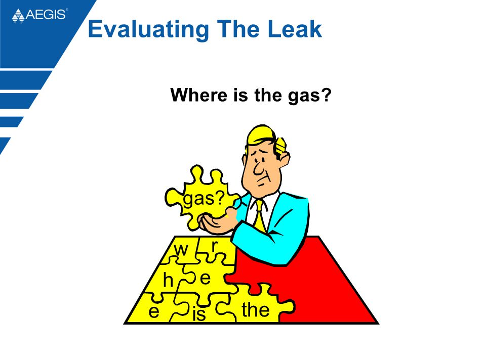 w h e r e is the gas Evaluating The Leak Where is the gas