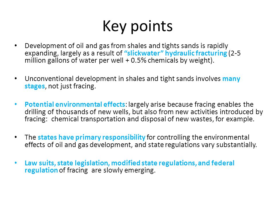 The rapid expansion of shale and tight sands development enabled by fracing