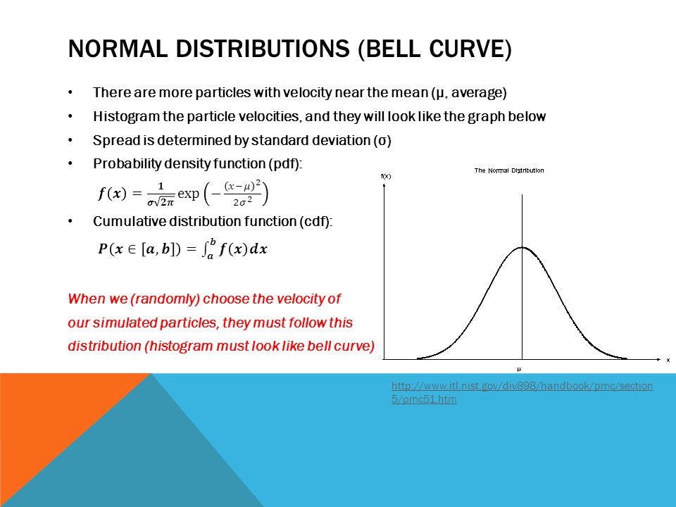 NORMAL DISTRIBUTIONS (BELL CURVE) http://www.itl.nist.gov/div898/handbook/pmc/section 5/pmc51.htm