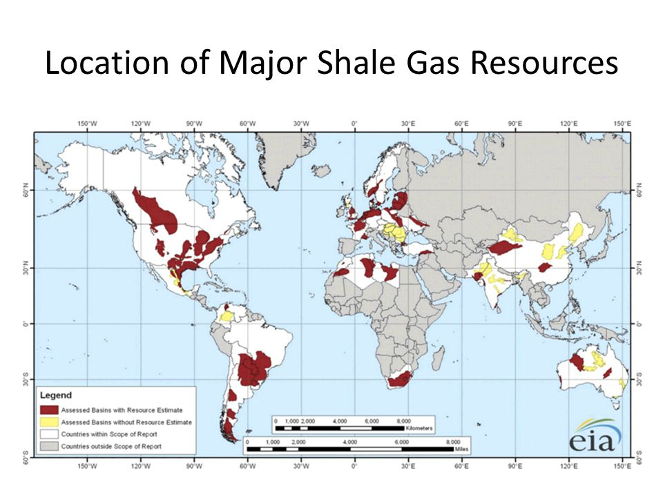 Location of Major Shale Gas Resources