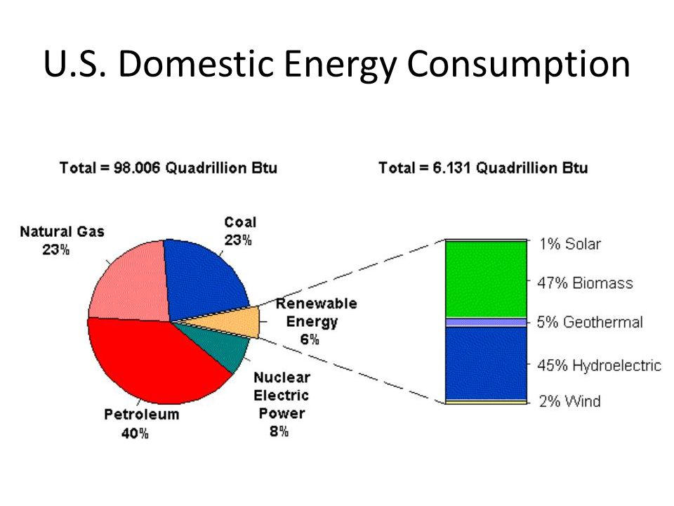 U.S. Domestic Energy Consumption