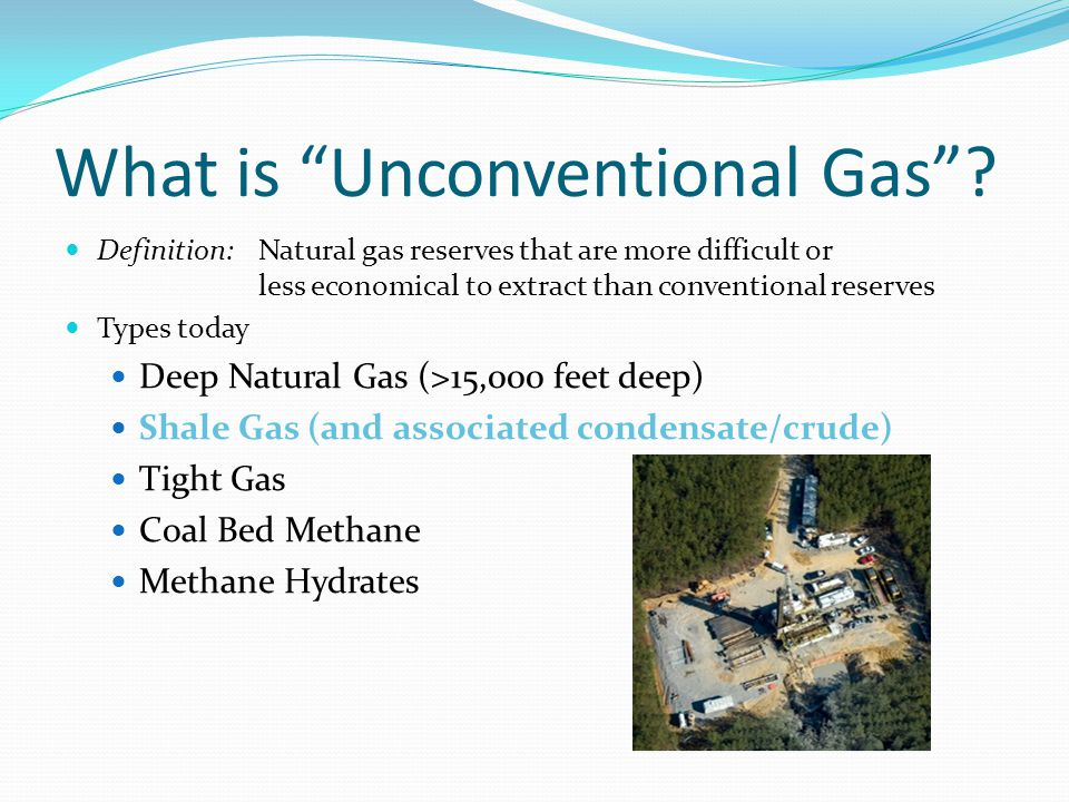 Why is Unconventional Gas Development so important.