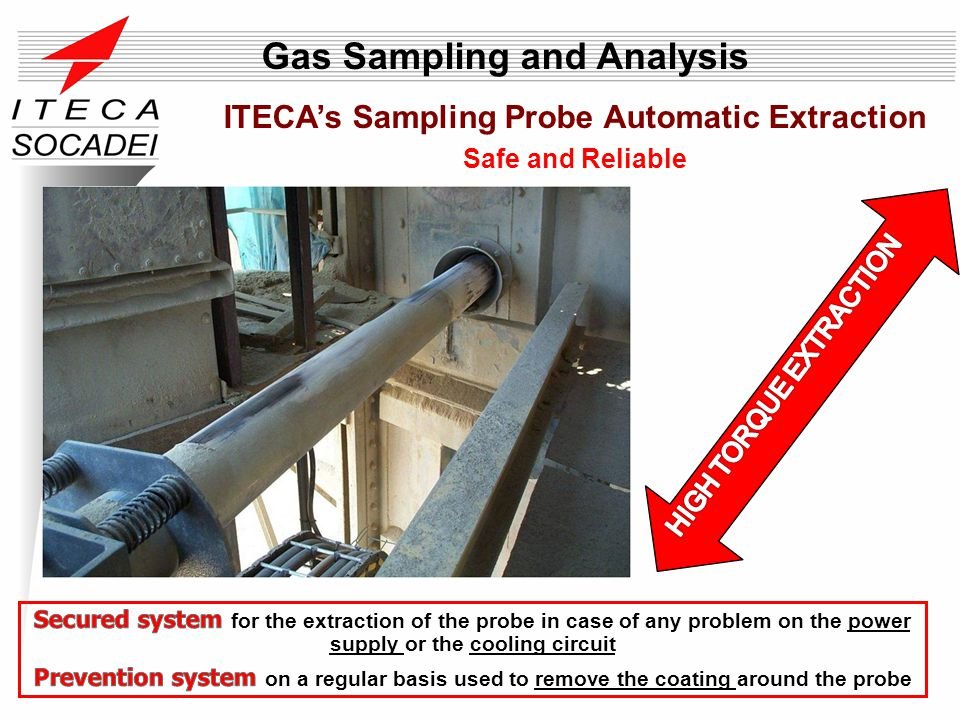ITECAs Sampling Probe Automatic Extraction Safe and Reliable Gas Sampling and Analysis