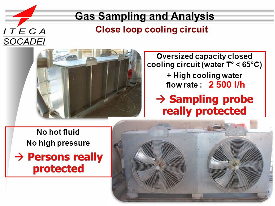 Close loop cooling circuit Gas Sampling and Analysis