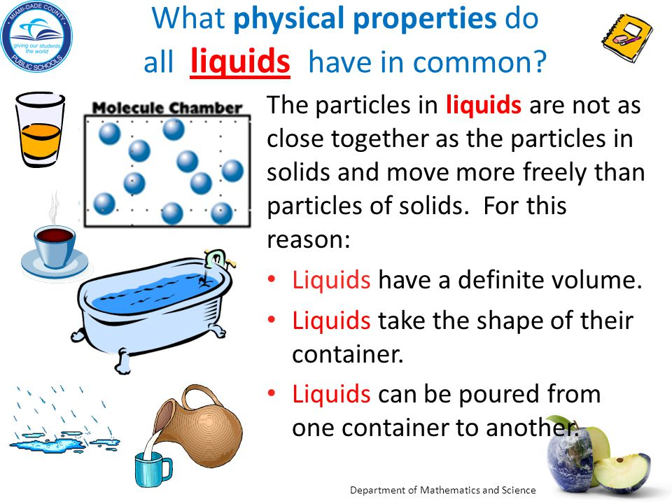 Department of Mathematics and Science Investigation Three Adapted from abpi Properties of Materials Would you make: No.