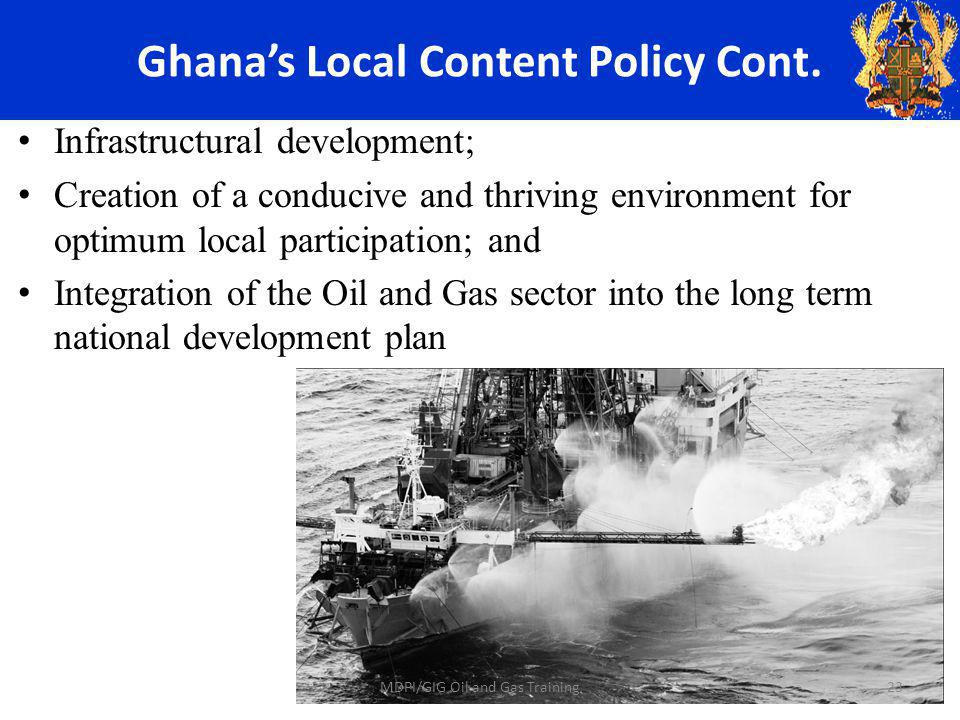 Ghanas Local Content Policy Cont.