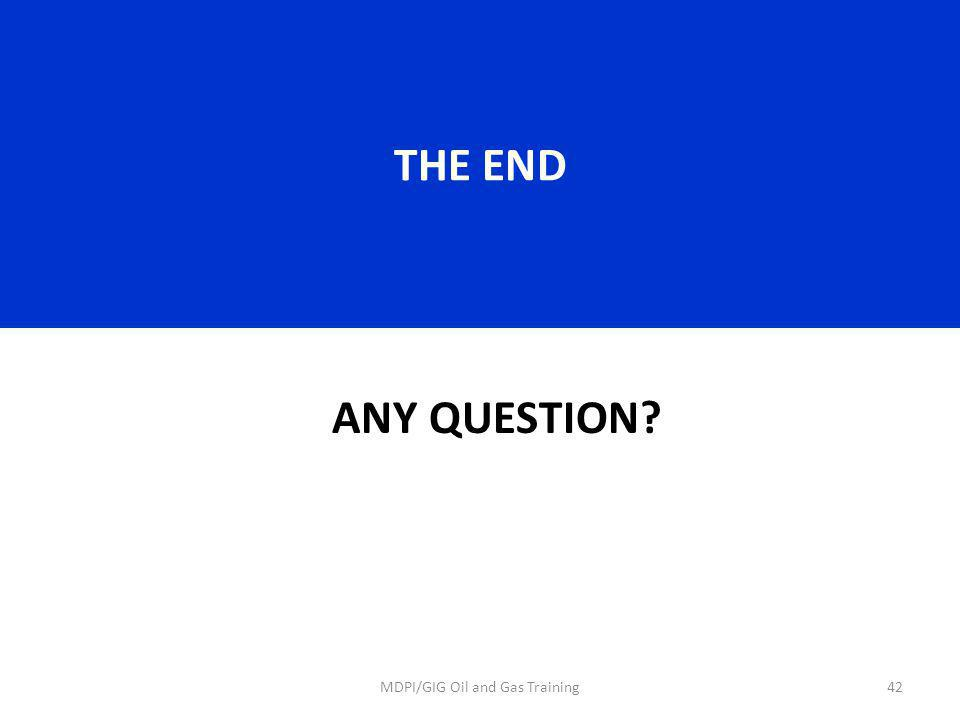 THE END ANY QUESTION? 42MDPI/GIG Oil and Gas Training
