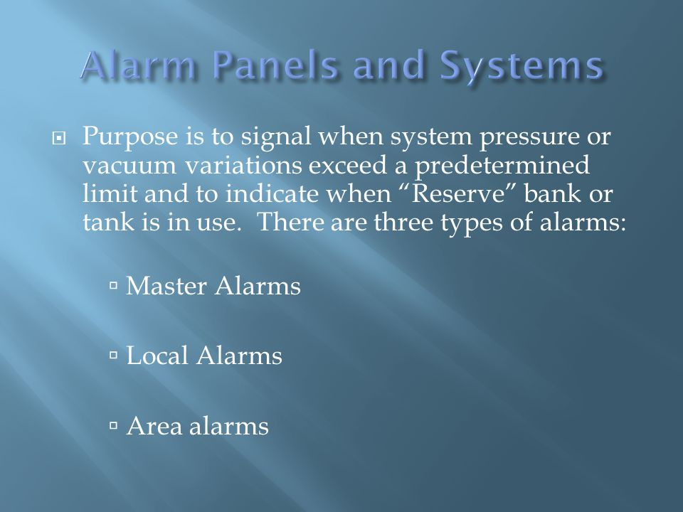 Purpose is to signal when system pressure or vacuum variations exceed a predetermined limit and to indicate when Reserve bank or tank is in use.