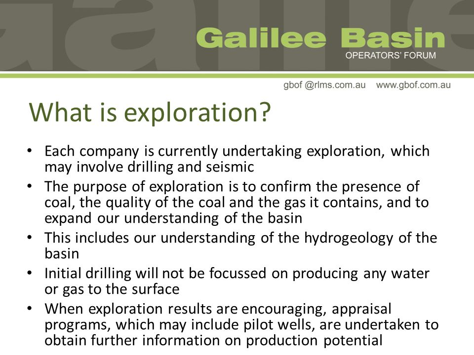 What is exploration.