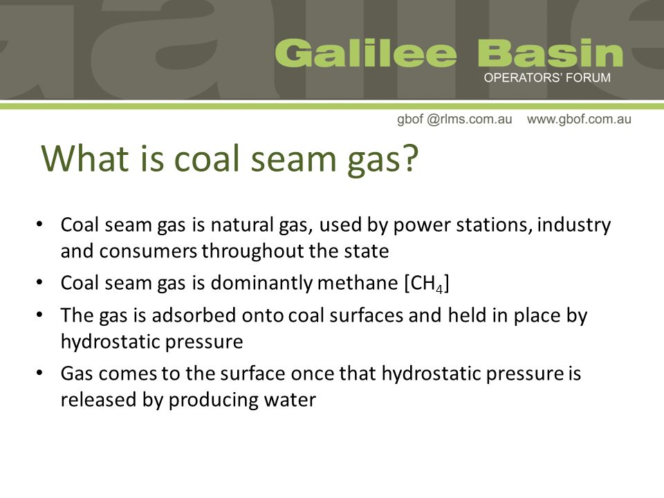 What is coal seam gas.