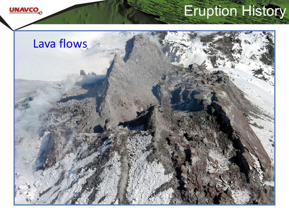 Eruption History Lava flows