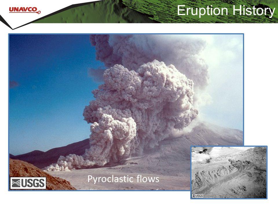 Eruption History Pyroclastic flows