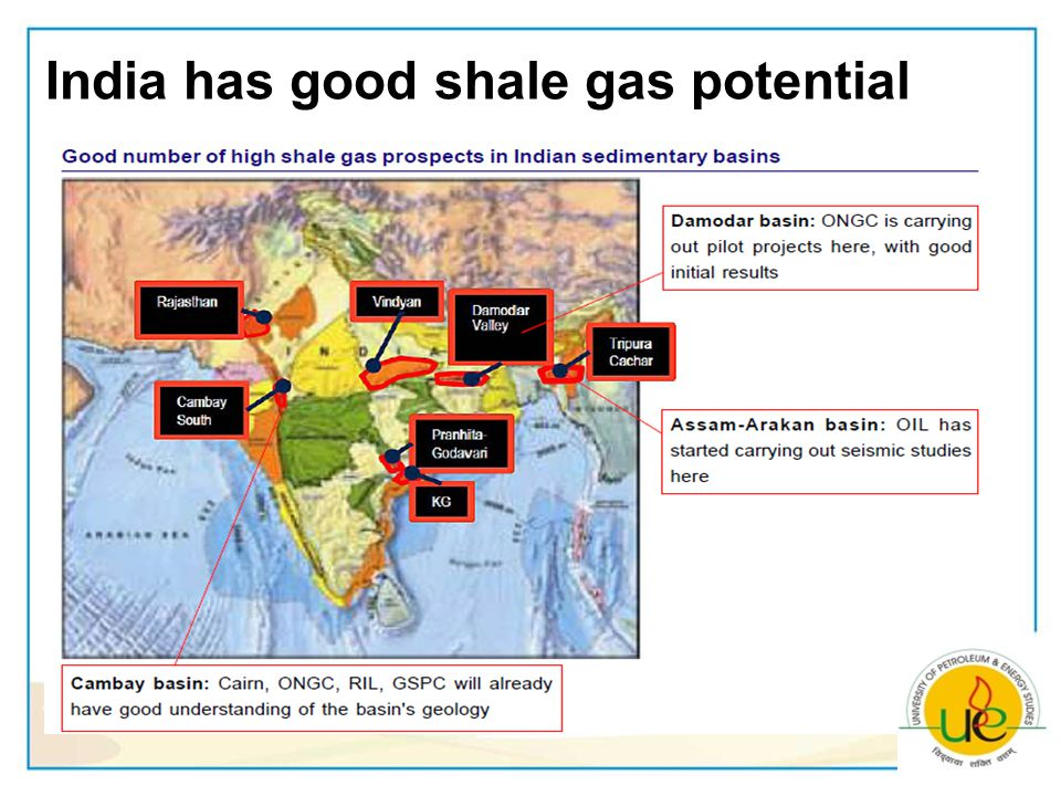 India has good shale gas potential