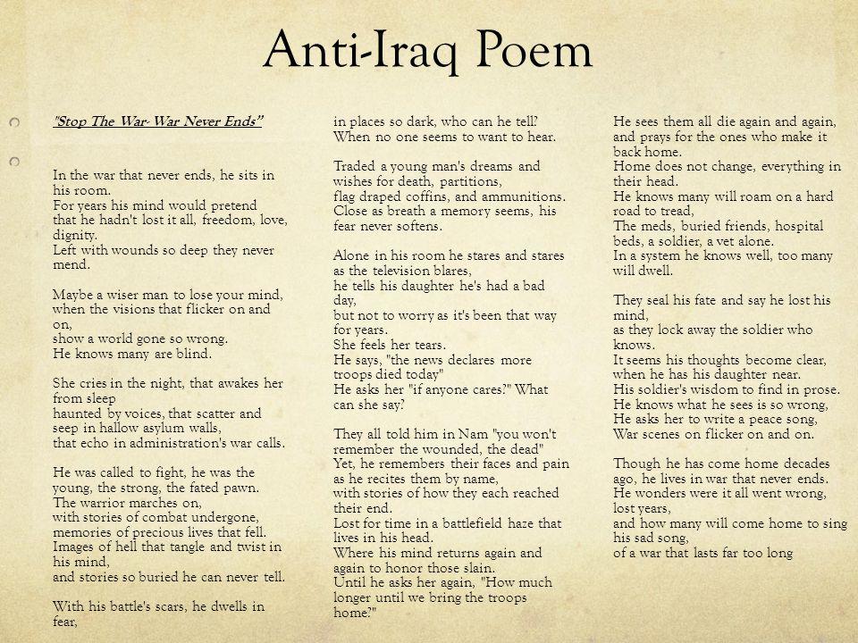 Anti-Iraq Poem