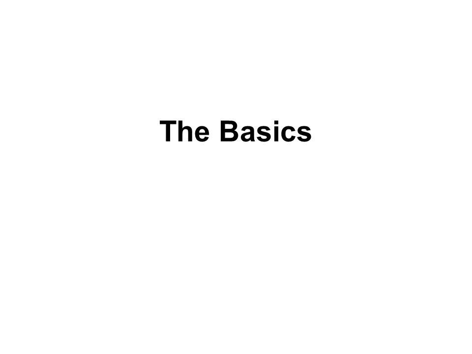 The Basics Bill Pike 21 April 2010