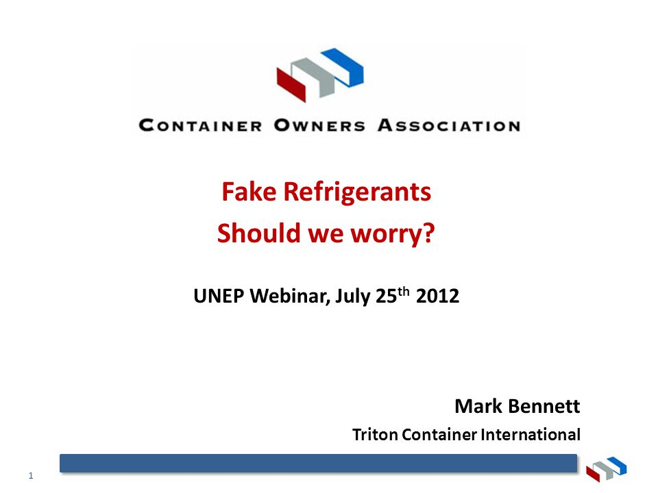 1 Fake Refrigerants Should we worry.
