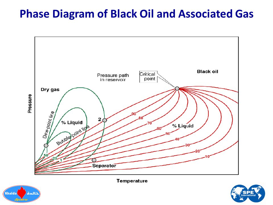 Phase Diagram of Black Oil and Associated Gas
