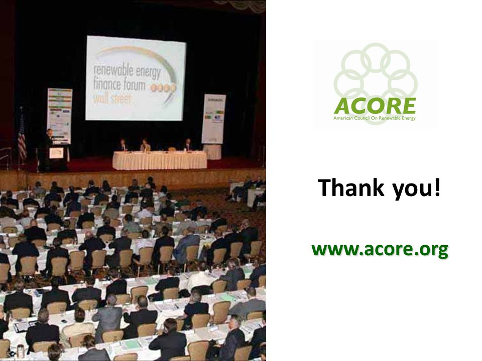 10 www.acore.org Thank you! www.acore.org