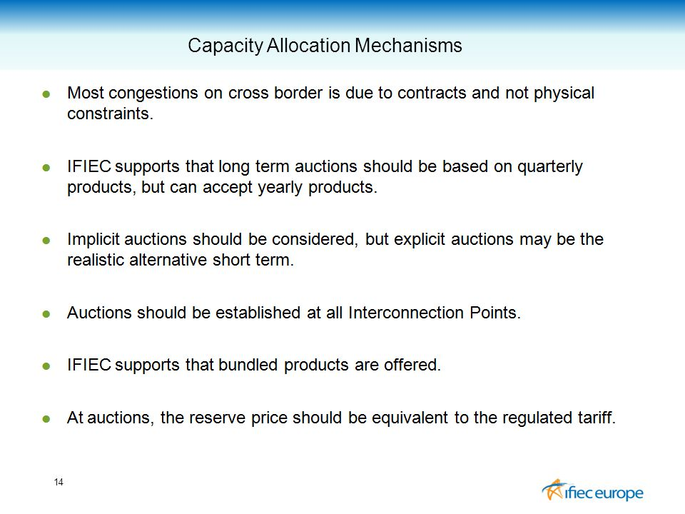 14 Capacity Allocation Mechanisms