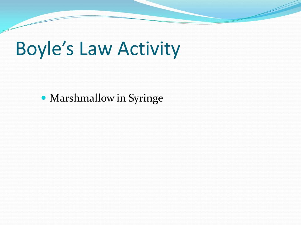 Boyles Law Activity Marshmallow in Syringe