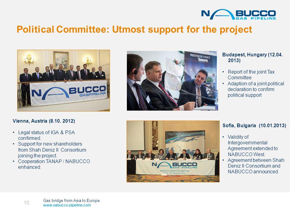 Gas bridge from Asia to Europe www.nabucco-pipeline.com Vienna, Austria (8.10.