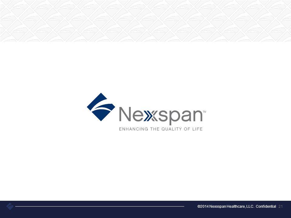 ©2014 Nexxspan Healthcare, LLC. Confidential 21