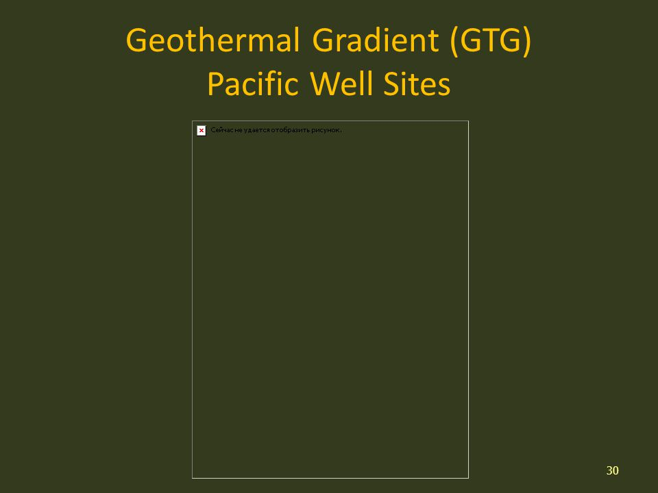 Geothermal Gradient (GTG) Pacific Well Sites 30