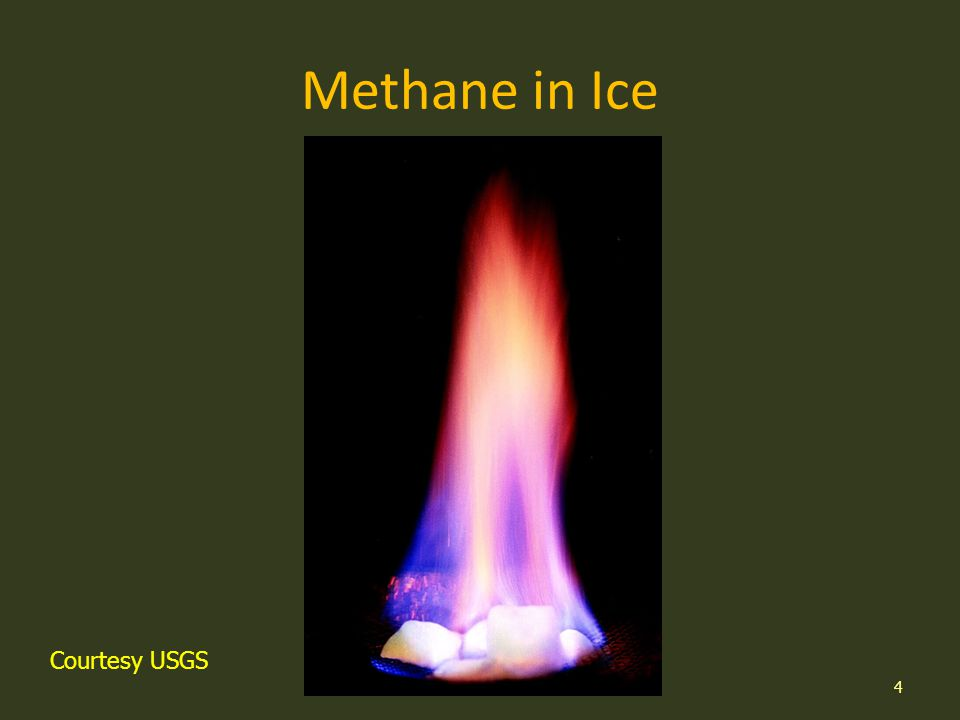 Methane in Ice 4 Courtesy USGS