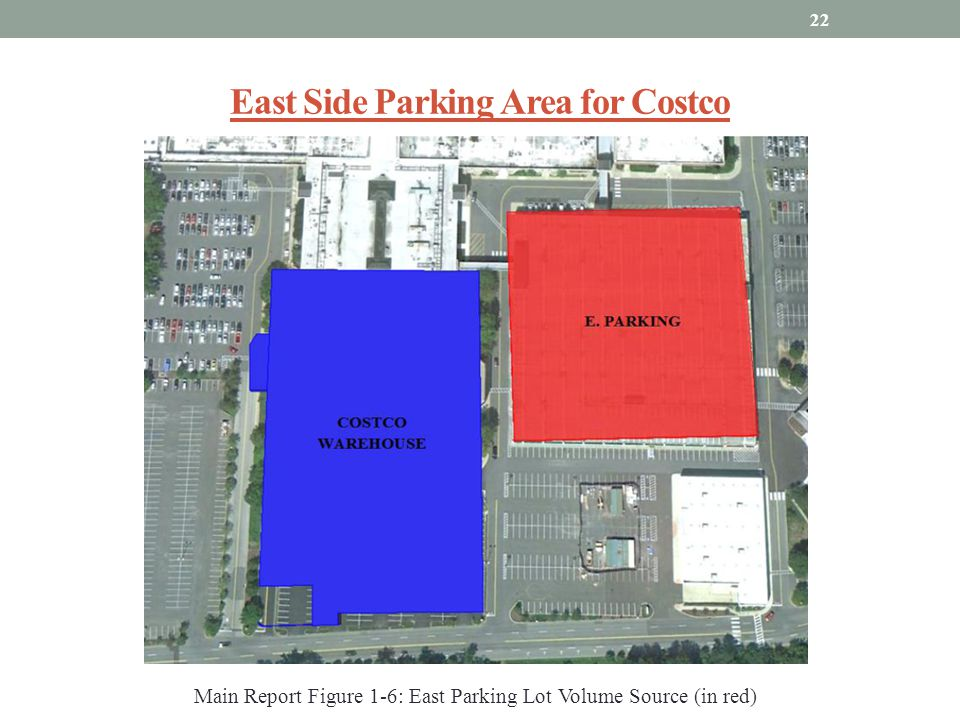 East Side Parking Area for Costco 22 Main Report Figure 1-6: East Parking Lot Volume Source (in red)