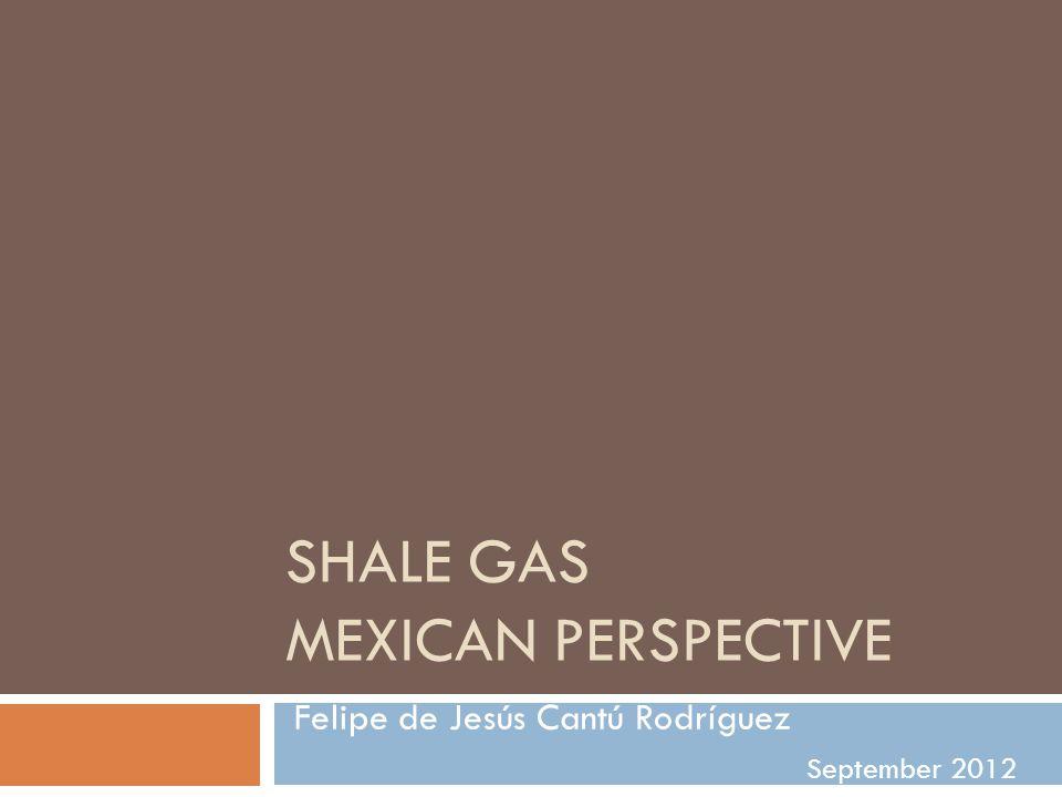 SHALE GAS MEXICAN PERSPECTIVE Felipe de Jesús Cantú Rodríguez September 2012