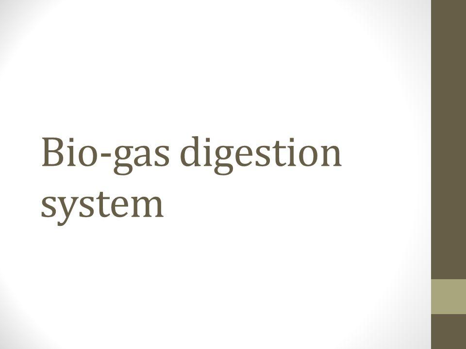 Bio-gas digestion system