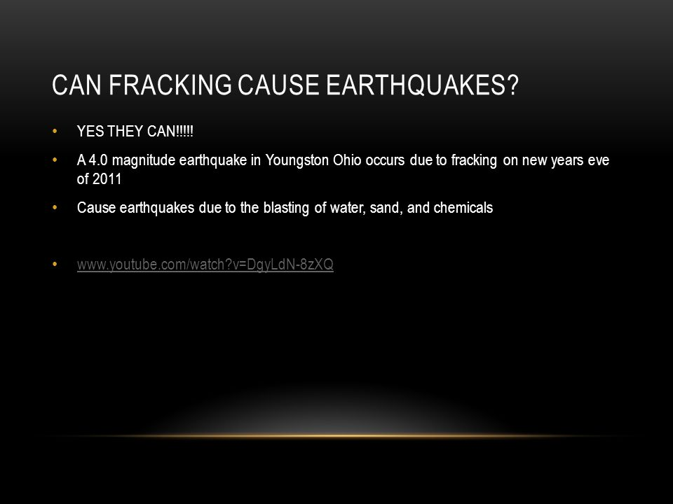 CAN FRACKING CAUSE EARTHQUAKES. YES THEY CAN!!!!.