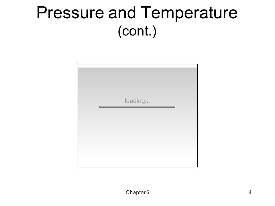 Chapter 64 Pressure and Temperature (cont.)