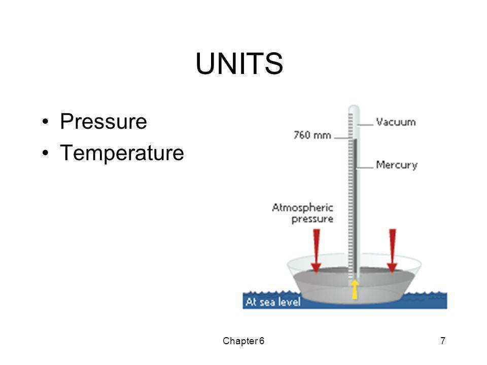 Chapter 67 UNITS Pressure Temperature