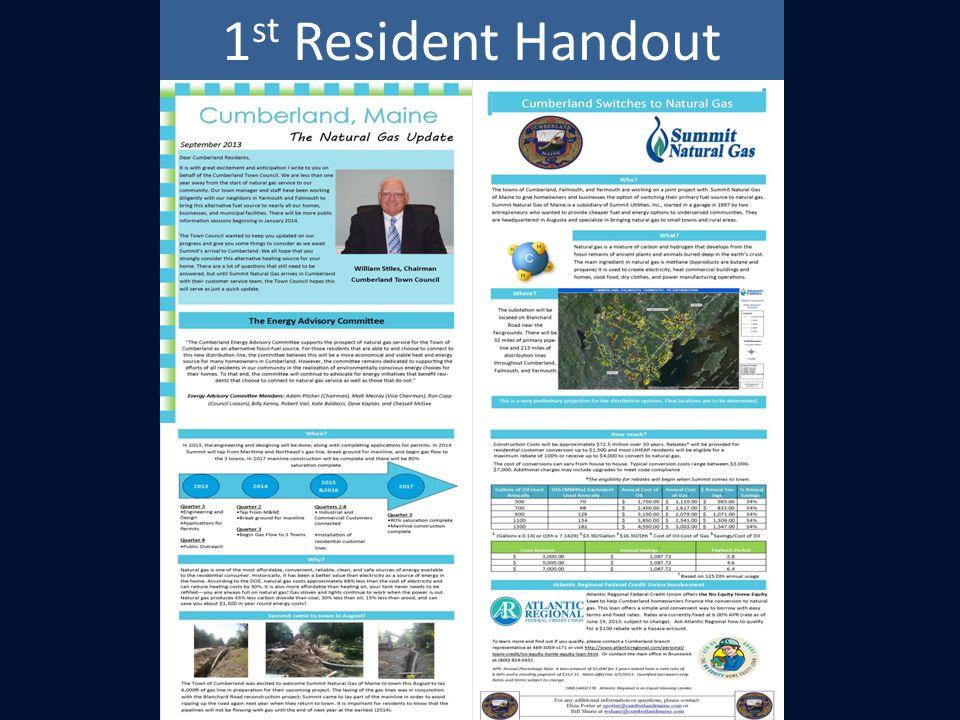 1 st Resident Handout