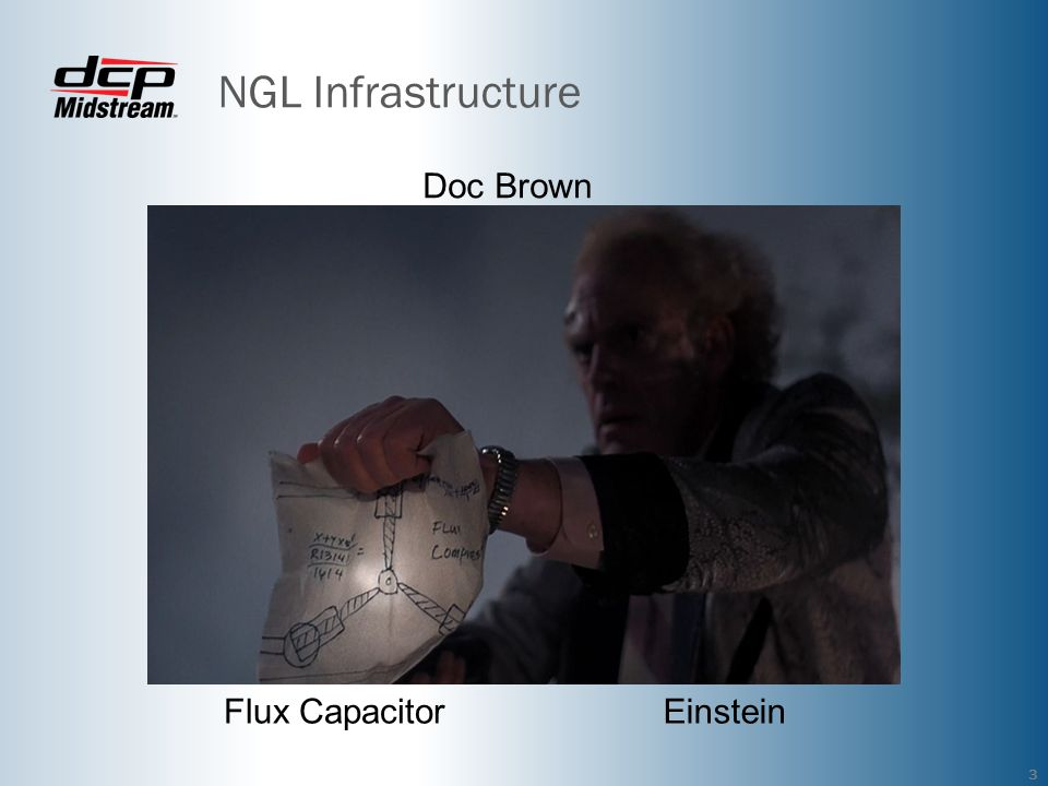 NGL Infrastructure 3 Flux CapacitorEinstein Doc Brown