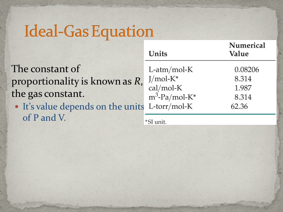 If P and T are fixed, the volume of gas is directly proportional to the number of moles of the gas.
