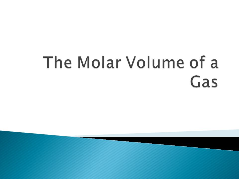 In this experiment we will be determining the molar volume of a gas.