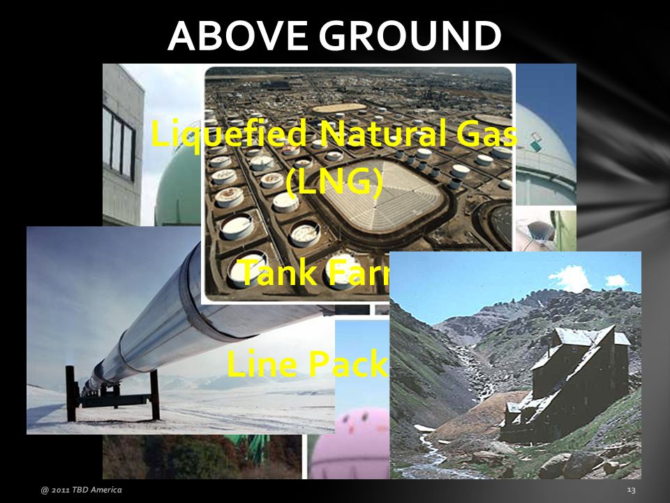 ABOVE GROUND @ 2011 TBD America 13 Liquefied Natural Gas (LNG) Tank Farms Line Packing