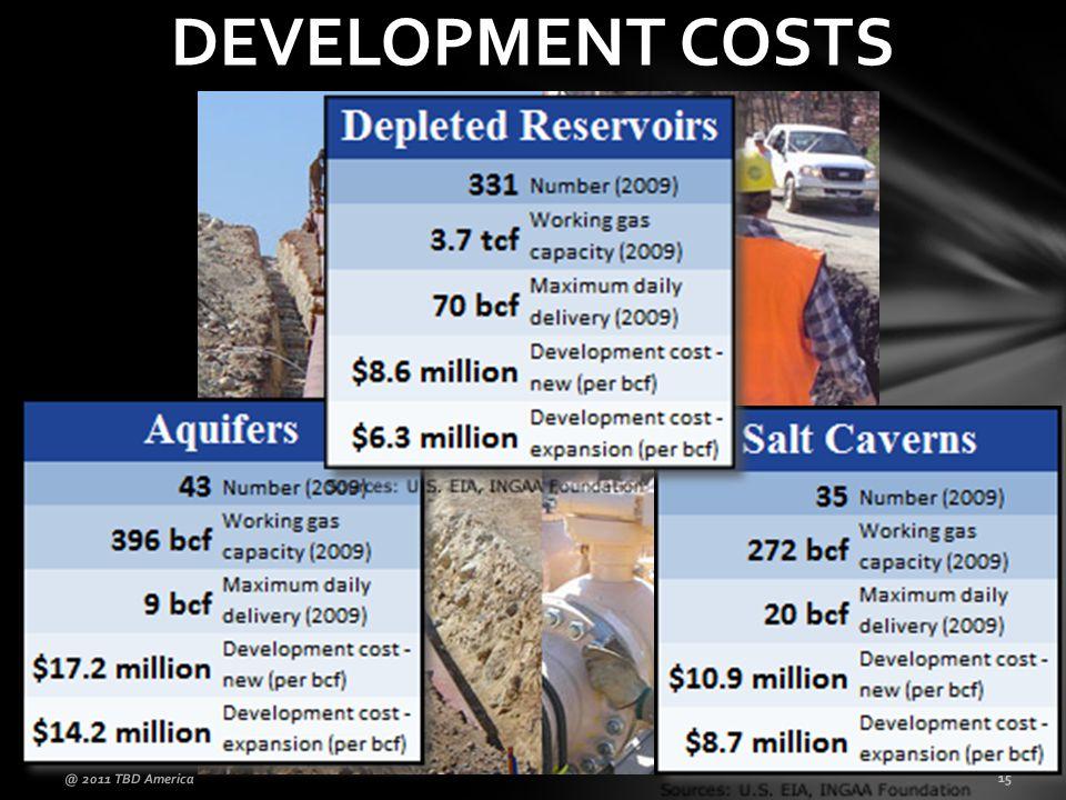 DEVELOPMENT COSTS @ 2011 TBD America 15