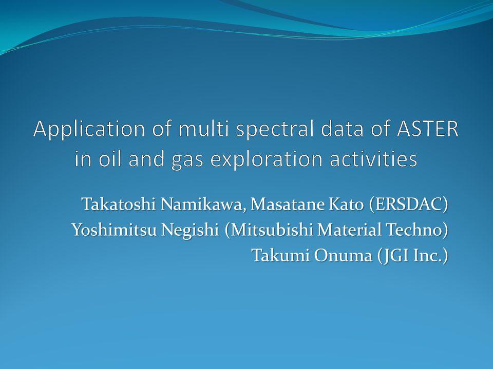 Takatoshi Namikawa, Masatane Kato (ERSDAC) Yoshimitsu Negishi (Mitsubishi Material Techno) Takumi Onuma (JGI Inc.)