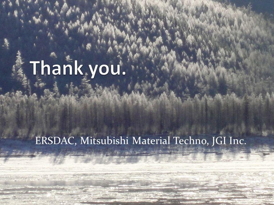 ERSDAC, Mitsubishi Material Techno, JGI Inc.